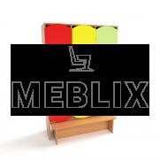 Цветной шкафчик для раздевалки детский с лавкой (3 секции)