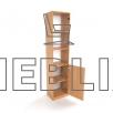 Шкаф узкий для документов и пособий ШД-6 со стеклянными дверцами