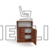 Школьная шкаф-тумба для документов ШТ-1