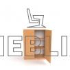Медицинская шкаф-тумба для картотеки ШТ-2