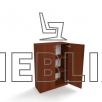 Шкаф-тумба для документов ШТ-2 с дверьми