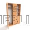Шкаф для медицинских учреждений комбинированный ШО-3