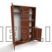 Шкаф для верхней одежды комбинированный ШО-3