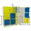 Стенка учебная для школьных документов для НУШ Мозаика 2