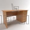 Письменный однотумбовый стол с четырьмя выдвижными ящиками СР-5