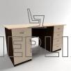 Стол письменный двухтумбовый с выдвижными ящиками СР-6