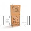 Детский шкаф с лавкой для раздевалки (2 секции) от производителя