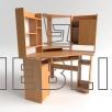 Угловой компьютерный стол с надстройкой СУ-3