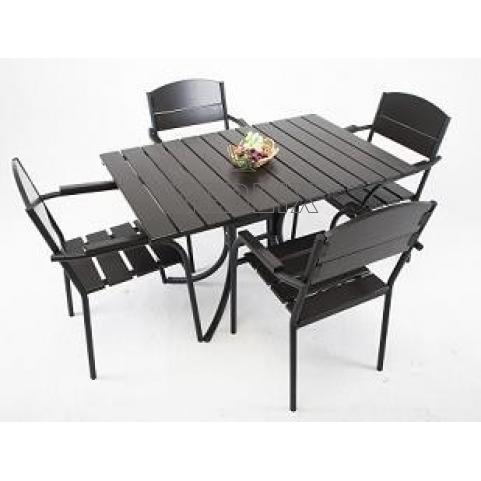 Комплект мебели для летнего кафе Фелиция: стол, 4 стула