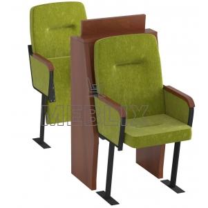 Кресла для депутатского корпуса в сессионный зал с откидными столиками СТЮАРД