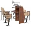 Кресла для депутатского корпуса с откидными столиками СТЮАРД