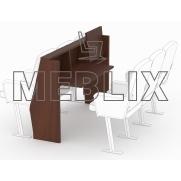 Откидной стол для сессионного зала депутатского корпуса