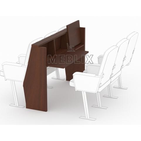 Откидной стол для сессионного зала депутатского корпуса под секционные кресла