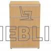 Узкий комод на 4 ящика КМ-5