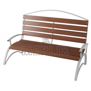 Скамейка с фигурной спинкой ЛВ-5
