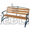 Скамейка парковая фигурная со спинкой ЛВ-7