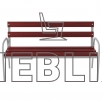 Скамейка для улицы с высокими подлокотниками ЛВ-4