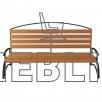 Скамейка для парка и сада с фигурной спинкой ЛВ-5