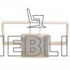Книжная полка для дома и офиса ПЛ-1