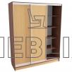 Шкаф-купе для хранения одежды, обуви 220x180
