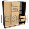 Шкаф-купе большой для одежды 220x200