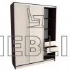 Высокий шкаф-купе для одежды, обуви 240x180