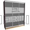 Шкаф-купе для хранения одежды большой 240x200
