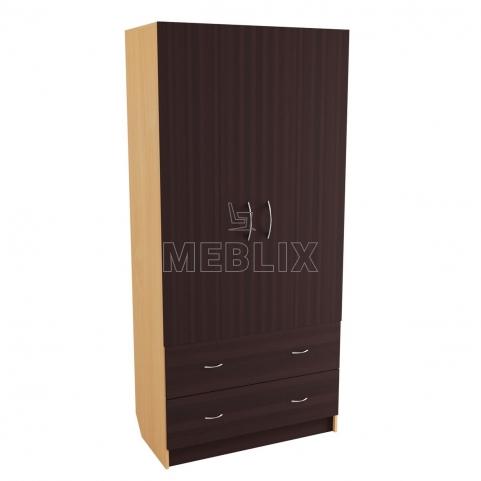 Шкаф для одежды с распашными дверьми 220x100