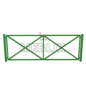 Металлический забор для улицы ЗБ-2