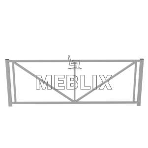 Уличный металлический забор ЗБ-3
