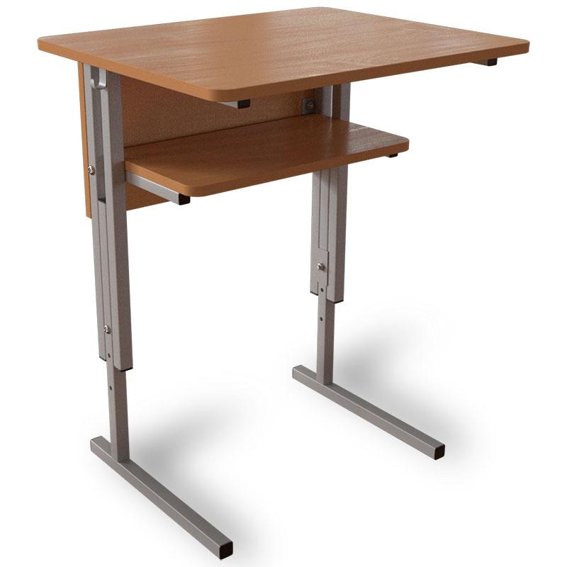 Одноместный аудиторный стол с регулировкой высоты